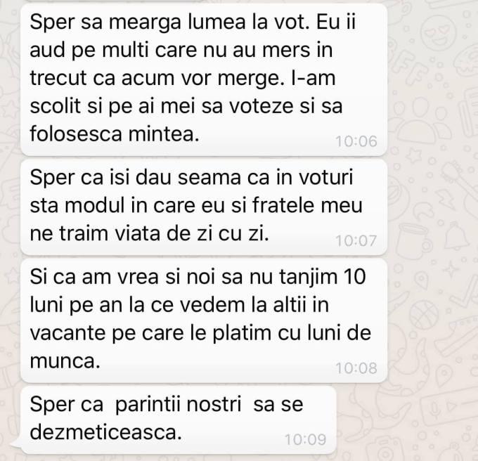 """Vlad Voiculescu: """"Mesaj primit azi dimineață de la o fată de 29 de ani. Familia ei e din Teleorman, ea și fratele ei au venit în București la facultate și au rămas apoi aici, amândoi angajați la multinationale. La alegerile astea ..."""" 1"""