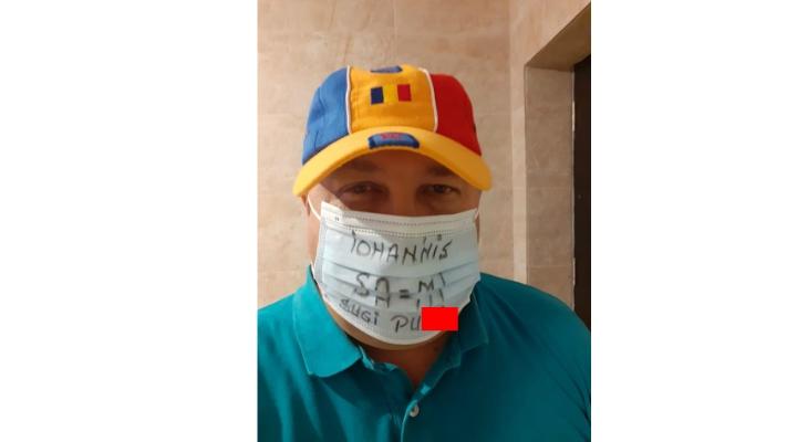 """Functionar public, simpatizant PSD: """"Iohannis, sa-mi sugi p***"""". Mesaj pe mască 2"""