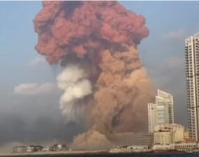 (Video) Explozie gigant în portul Beirut! Sute de oameni răniți! 9