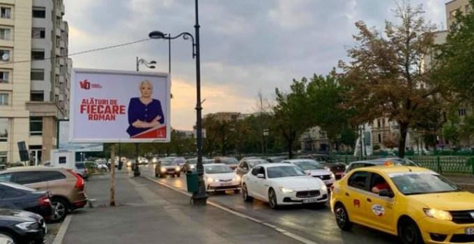 """Violeta: """"Numai Viorica Dăncilă are curajul să pună un panou vizibil doar din contrasens pe o stradă cu 3 benzi de sens unic"""" 3"""