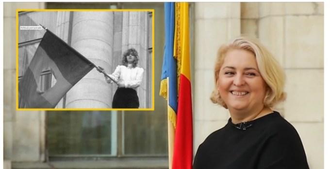 """(Video) Gabriela, fata cu steagul din 22 decembrie 1989: """" Când am plecat de acasă în ziua aceea m-am îmbrăcat cu cele mai bune haine, m-am aranjat, mi-am luat buletinul, în cazul în care mor să mă recunoască cineva. Eram pregătită pentru orice. Asumat. Ori liberă ori moartă."""" 5"""