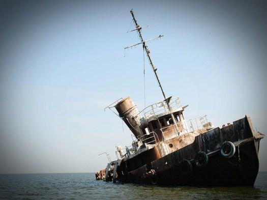 abandoned ship Tuzla Dobruja Dobrogea landscapes Romania