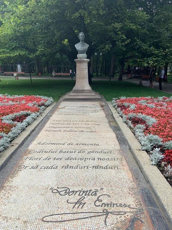 Bustul lui Mihai Eminescu - Parcul Copou