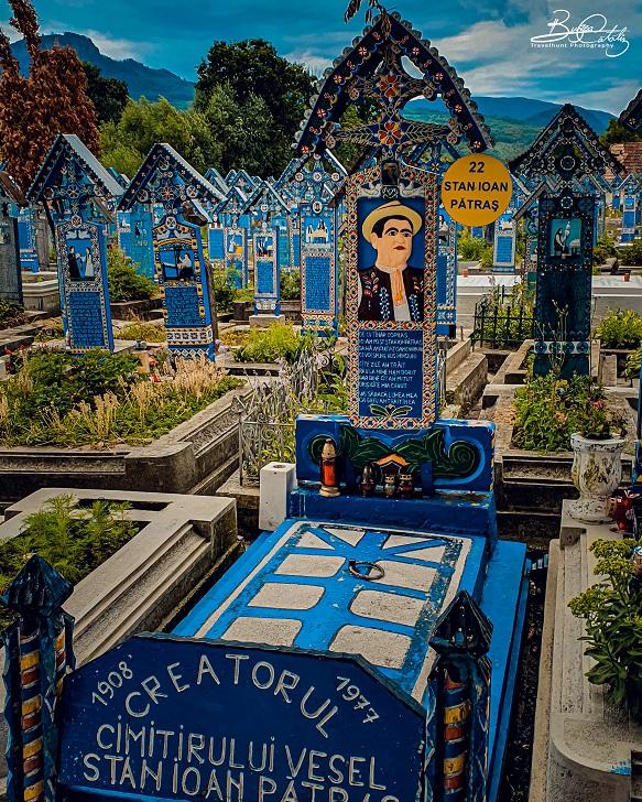 """Crucea lui Stan Ioan Pătraş (""""Cimitirul Vesel"""", com. Săpânța, jud. Maramureș)"""
