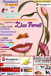 Ziua Femeii va fi sărbătorită în Brunete cu mâncare, muzică şi dansuri tradiţionale