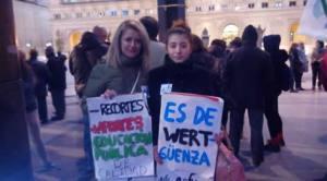 Zaragoza: Miting contra aprobării Legii Organice pentru Îmbunătăţirea Calităţii Educaţiei