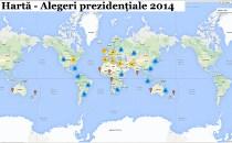 Harta interactivă a secţiilor de votare din străinătate