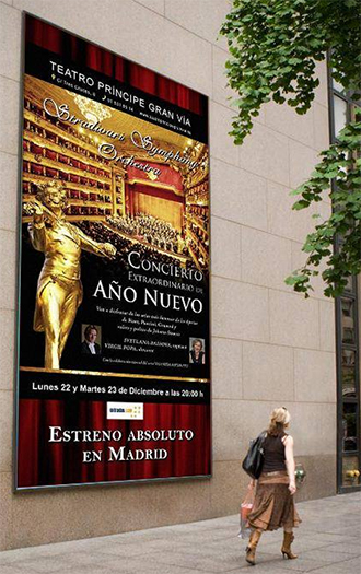 Afişul Concertului Extraordinar de Anul Nou din Madrid