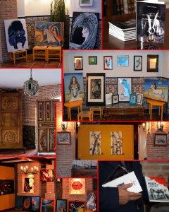 Secvenţe de la prezentarea de carte şi expoziţia de pictură şi sculpturăorganizată de ASARS în San Sebastian de los Reyes