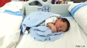 Dragoş Nicolae Petru, primul copil născut în noul spital Can Misses