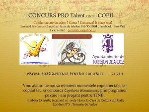 Afişul concursului Pro Talent 2015