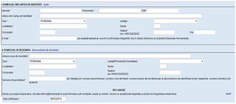 Formulare domiciliu vot online
