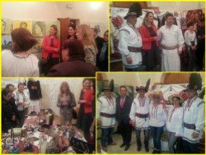 Imagini de la inaugurarea expoziţiei România, Artă, Tradiţie şi Cultură Românească