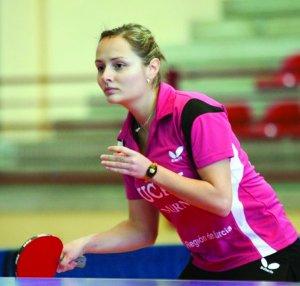 Iulia Necula în tricoul UCAM