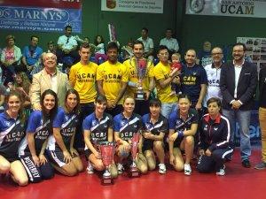 Iulia Necula alături de colegii săi de la UCAM