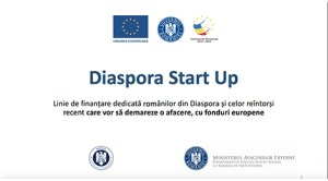Linie de finanţare dedicată românilor din Diaspora şi celor reîntorşi recent care vor să demareze o afacere, cu fonduri europene