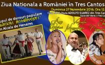Românii din oraşul madrilen Tres Cantos vor sărbători Ziua Naţională a României printr-un spectacol de muzică şi dansuri tradiţionale româneşti