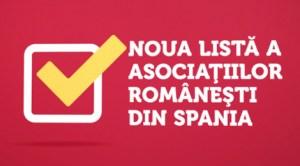Lista actualizată a asociaţiilor româneşti din Spania