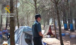 Tabără de muncitori români la cules de usturoi în localitatea segoviană Cuellar