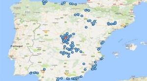 Harta educaţiei în limba română în Spania