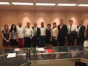 Mihai Petre Sabaila (in dreapta) la alegerea sa ca vicepresedinte PSD Spania