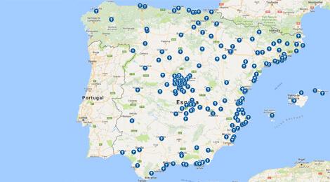Harta bisericilor româneşti din Spania