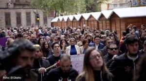 Mii de persoane au protestat la Madrid față de violențele împotriva femeilor