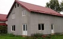 Casă cu etaj nefinalizată, din cărămidă porotherm, cu izolaţie şi cu geamuri şi uşi termopan, în Satchinez (Jud. Timiş)