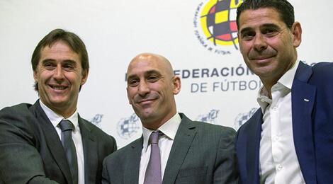 Julen Lopetegui, Luis Rubiales şi Fernando Hierro