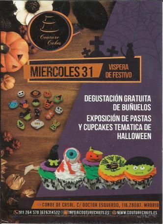 Afis Halloween la Cofetăria cu specific românesc Couture Cakes