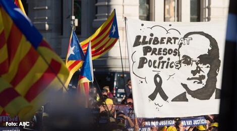 Demonstraţie la Madrid împotriva procesului liderilor separatişti catalani