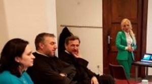 Secretarul de stat Lilla Debelka, alături de comunitatea românească din Bruxelles
