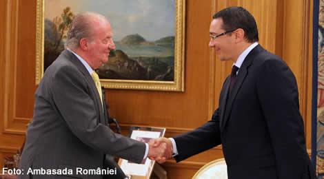 Primul-ministru Victor Ponta a fost primit de către Majestatea Sa, Juan Carlos I al Spaniei