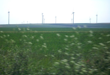 Fields of Wheat and Wind Turbines