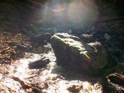 Sun Shining on the Stream