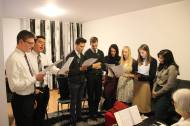 Practicing our singing at the Bairs'