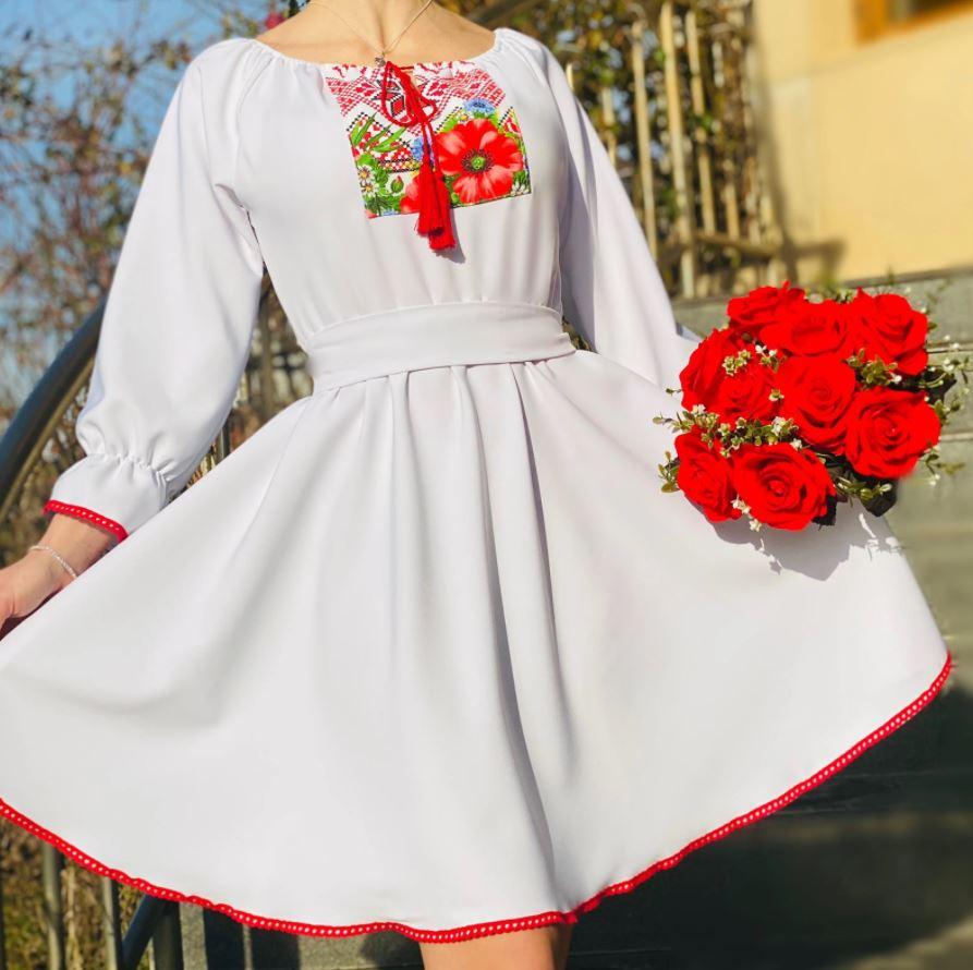 rochie traditionala cununie civila scurta