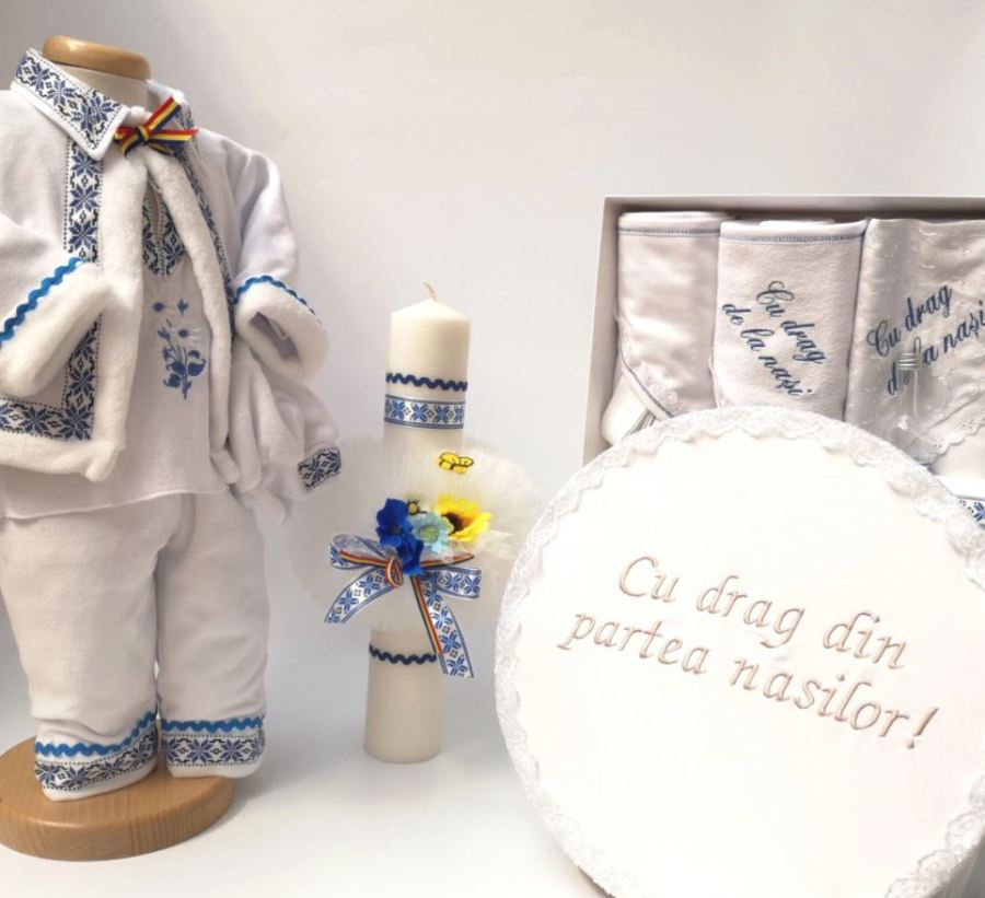 set botez cu lumanari botez stil traditional