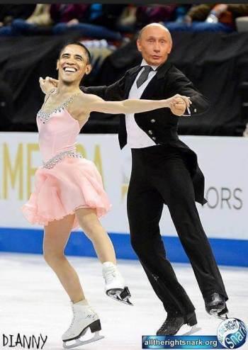 Putin-Obama-Skating