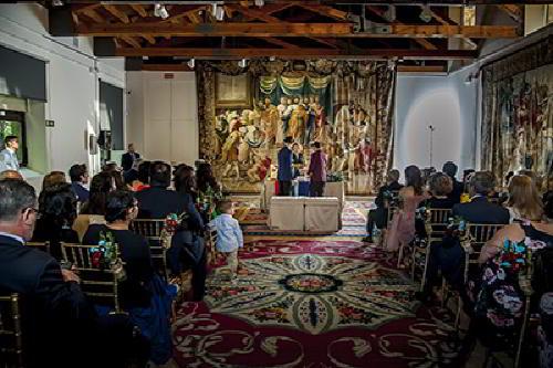 Boda en la Real fábrica de tapices de Madrid
