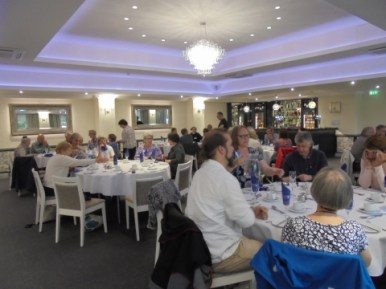 At the conference dinner after the AGM (Photo: Joyce Compton)