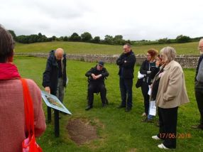 SGRP members on a visit to North Leigh Roman villa, Oxfordshire (photo: Jane Timby)
