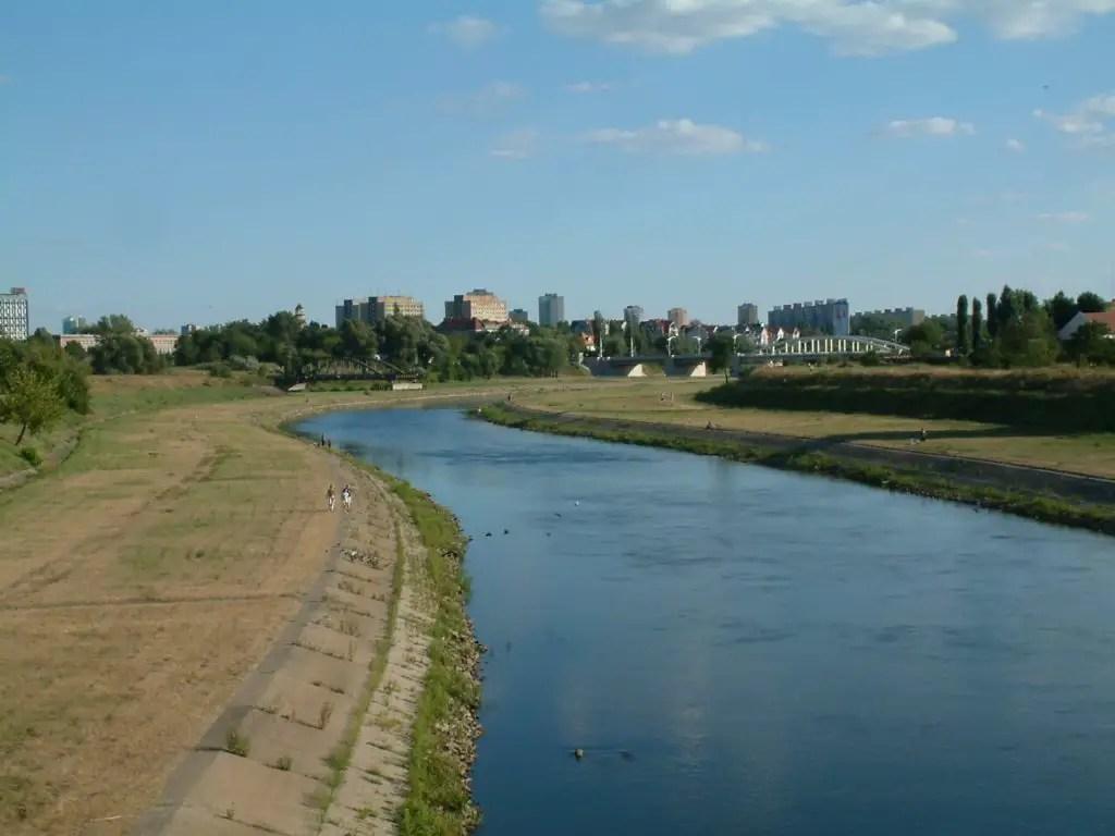 Warta river in Poznan
