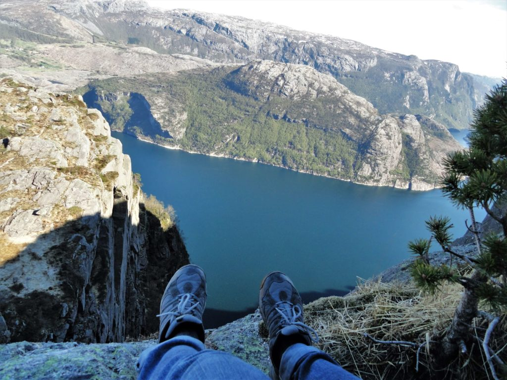 Steep cliff of Lysefjorden