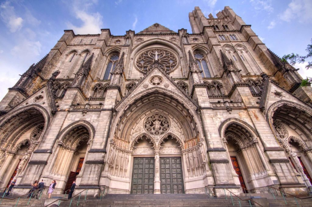Cathedral of St John the Divine in NYC from the bottom
