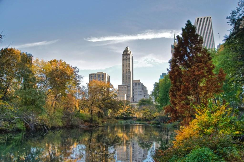 Центральный парк осенью, нью-йорк