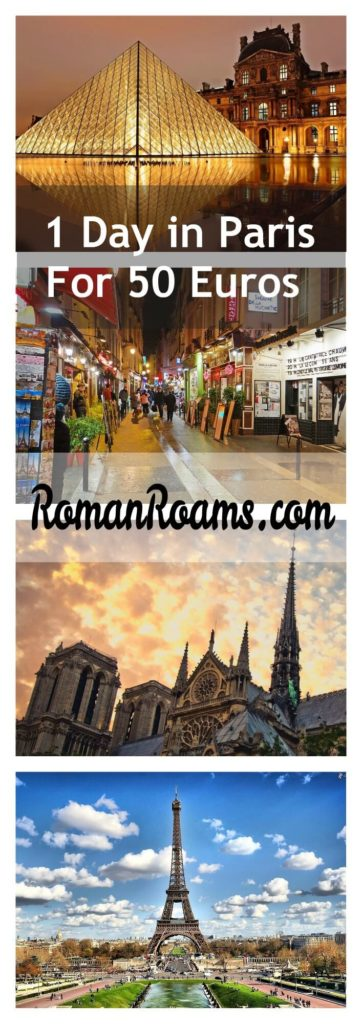 1 day in Paris itinerary, prices, collage RomanRoams