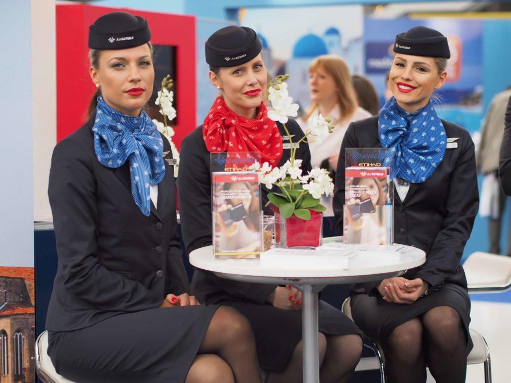 flight attendants of Air Serbia airline