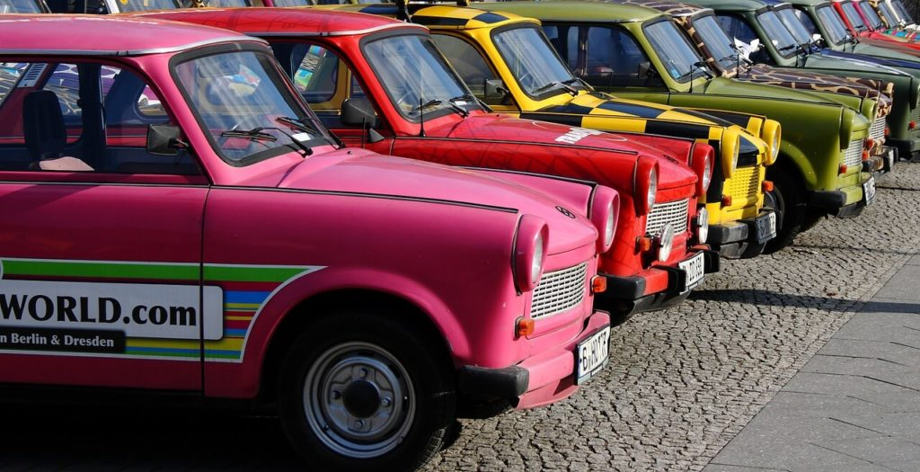 Trabant cars in Berlin