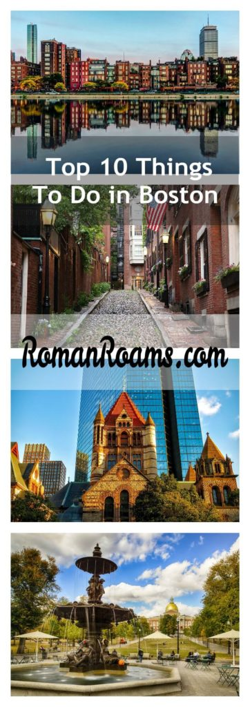 top things to do in Boston, top city attractions collage RomanRoams